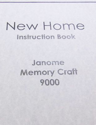 INSTRUCTION BOOK New Home MC9000
