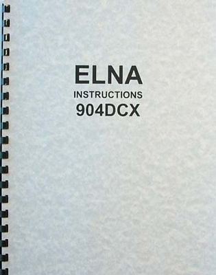Instruction Book Elna 904DCX 905DCX
