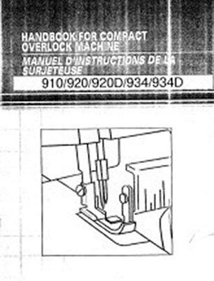 INSTRUCTION BOOK Brother 920D serger
