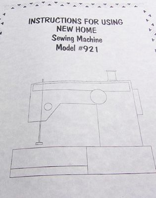 INSTRUCTION BOOK New Home 921