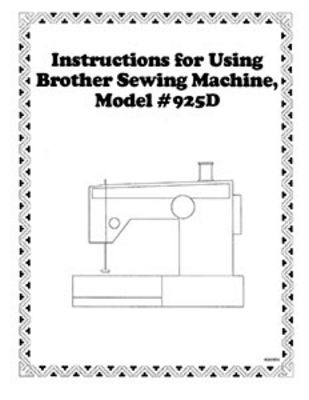 Instruction Book Brother 925D