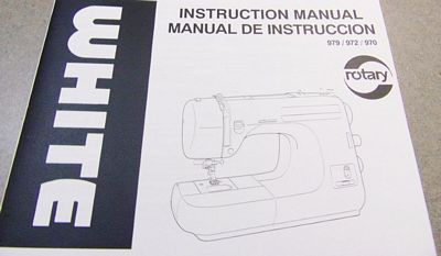 INSTRUCTION BOOK White 972