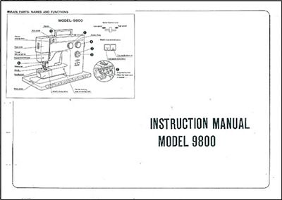 INSTRUCTION BOOK Riccar 9800
