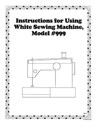 Instruction Book White 899 999 1010