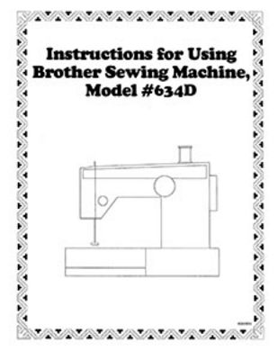 INSTRUCTION BOOK Brother 634D serger