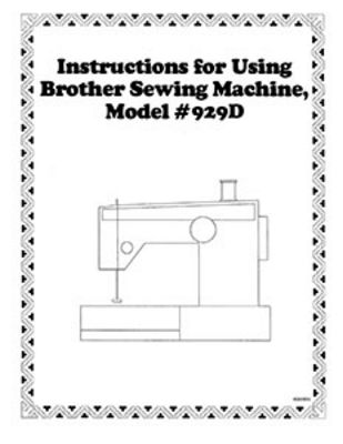 INSTRUCTION BOOK Brother 929D serger