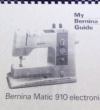 Instruction Bk Bernina 910