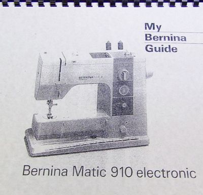 Instruction Bk Bernina 910