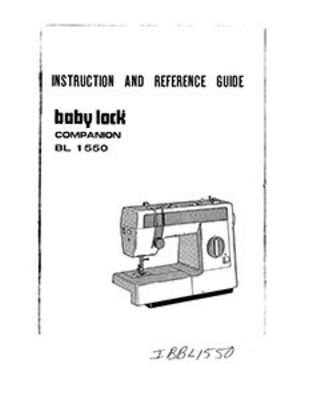 INSTRUCTION BOOK Babylock BL1550