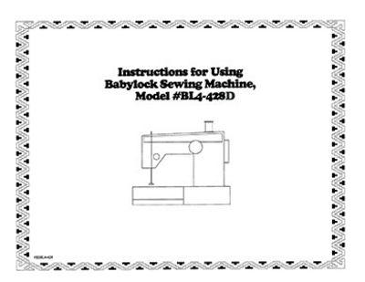 INSTRUCTION BOOK Babylock BL4-428D