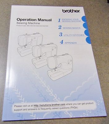 Instruction Book Brother CE8080PRW CS8080 1