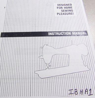 INSTRUCTION BOOK HA-1 Singer 15-30