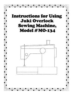 Instruction Book Juki MO134