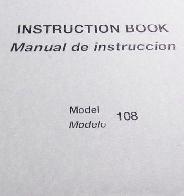 Instruction Bk New Home 108