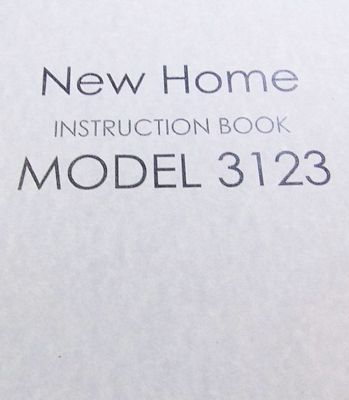 Instruction Book New Home 3023 3123