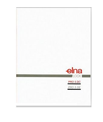 Instruction Book Elna PRO5DC