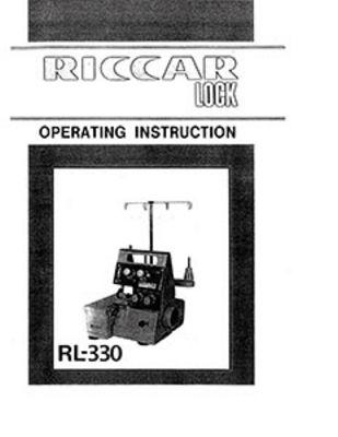 INSTRUCTION BOOK Riccarlock RL330