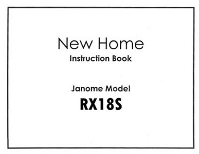 INSTRUCTION BOOK New Home RX18S