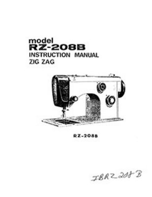 INSTRUCTION BOOK Riccar 208B 210B
