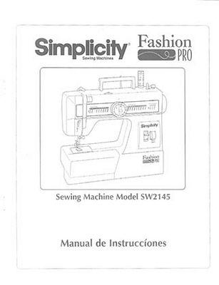 Instruction Book Simplicity SW2145