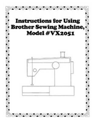 INSTRUCTION BOOK Brother VX2051