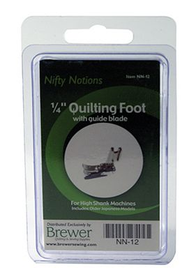 NN Foot 1/4 Quilting high shank with blade.