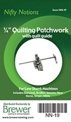 "NN Foot 1/4"" Patchwork low shank with guide"
