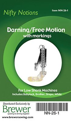 NN Foot Darning free motion low shank with marking