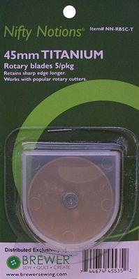 BLADE ROTARY 45mm Titanium 5 blades per card
