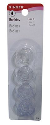 Bobbin Singer 15 Class Clear Plastic 4 count