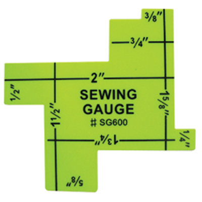 Gauge Sewing with 8 different sizes ranging