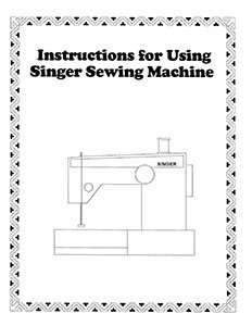 INSTRUCTION BOOK Singer 8 Basic