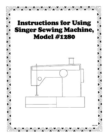 Instruction Book Singer 1280