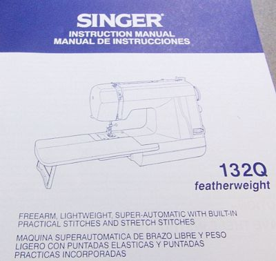 INSTRUCTION BOOK Singer 132Q