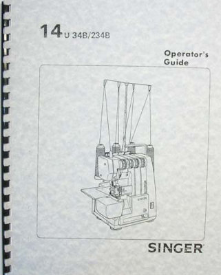 Inst Book Singer 14U34B