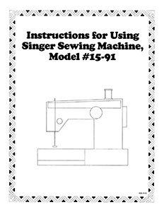 INSTRUCTION BOOK Singer 15-91
