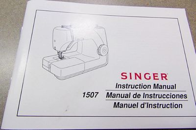 Instruction Book Singer 1507