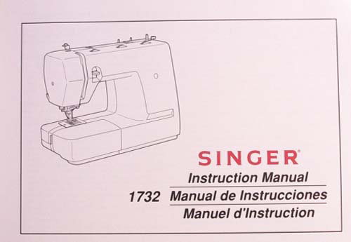 Instruction Book Singer model 1732