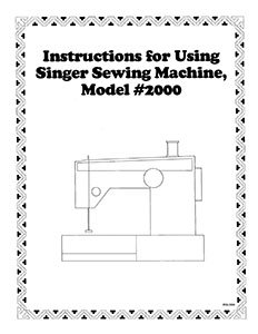 INSTRUCTION BOOK Singer 2000 2005