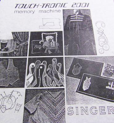 Instruction Book Singer 2001