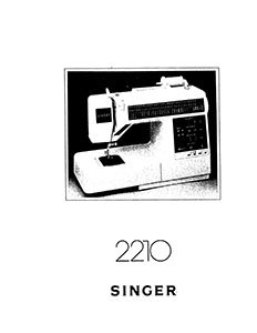 INSTRUCTION BOOK Singer 2210