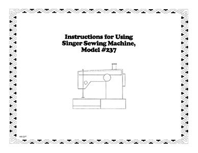 INSTRUCTION BOOK Singer 177 217 237