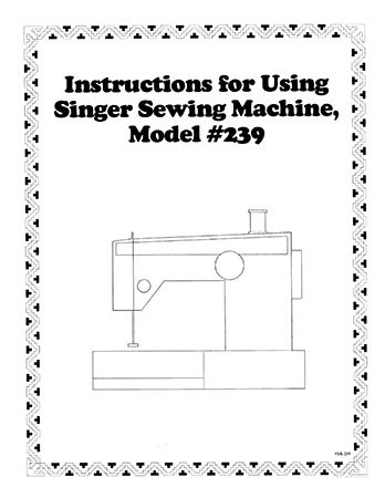 Instruction Book Singer 239
