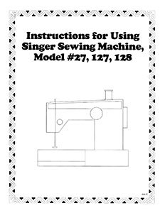 Instruction Book Singer 27