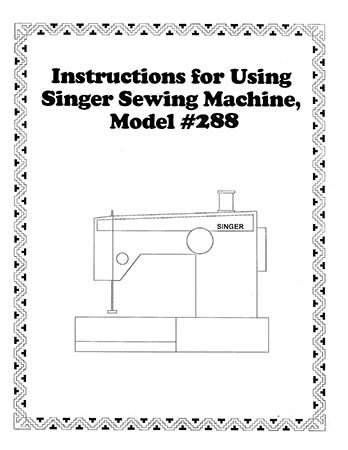 INSTRUCTION BOOK Singer 244 288 588 875