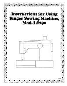INSTRUCTION BOOK Singer 290 8019