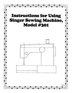 INSTRUCTION BOOK Singer 301