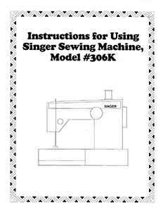 Instruction Book Singer 206 306 319