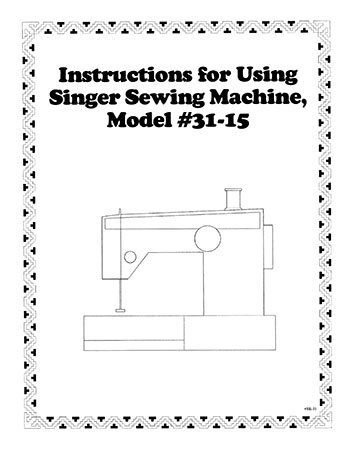 Instruction Book Singer 31-15