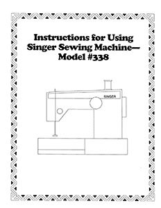 INSTRUCTION BOOK Singer 338 348